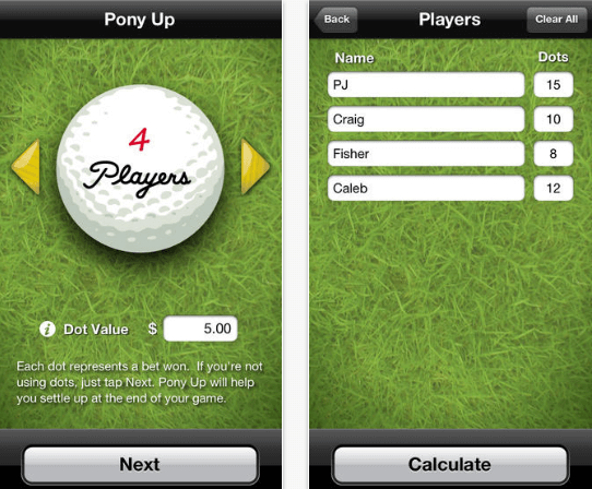 Golf Bet Calculator App