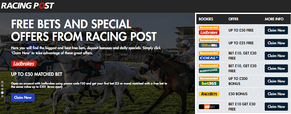 Golf Betting Offers On Racing Post