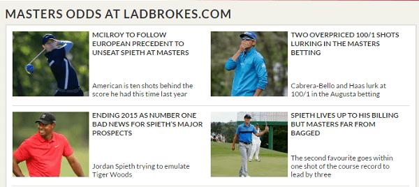 Ladbrokes Masters Odds