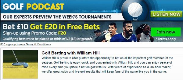 WilliamHill Golf Podcast