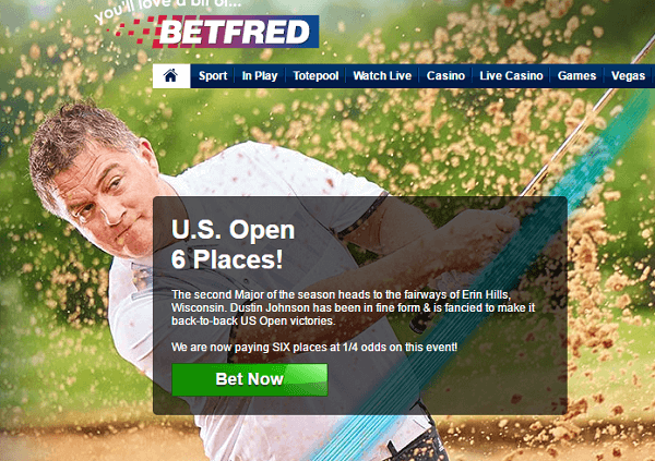Open golf betting betfred